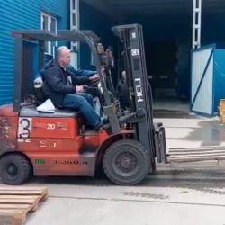 Heli 20 (вилочный дизельный колёсный погрузчик/ричтрак/штабелёр/кара  для выполнения работ на открытом воздухе: вертикальное и горизонтальное транспортировка, складирование грузов в палетах, рулонах, тюках или кипах)